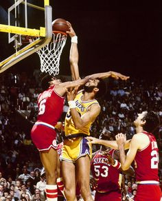 dunking on Julius Erving