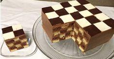 "Lahodná torta ""ŠACHOVNICA"". Chutí perfektne a vzhľadom okamžite zaujme! - Recepty od babky Tiramisu, Waffles, Breakfast, Ethnic Recipes, Food, Morning Coffee, Essen, Waffle, Meals"