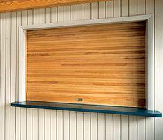 Overhead Doors Model 665 Rolling Counter Wood Doors