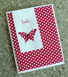 Hello Butterfly Card by TwoYellowDaisies on Etsy, $3.00