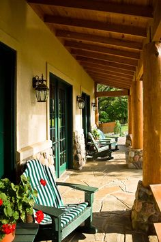 This reminds me of the old Sanford winery front porch.  Pure heaven.
