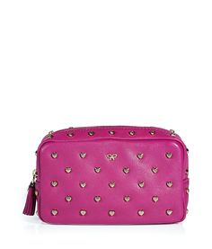 Leather Studded Heart Make Up Case | Spudisticated