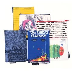 Literary Pouches Pride and Predjudice, Library Card
