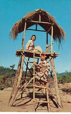 Vintage Postcards  Aborigine Maids  Taiwan by heritagegeneralstore