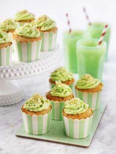 Lime och kokos cupcakes