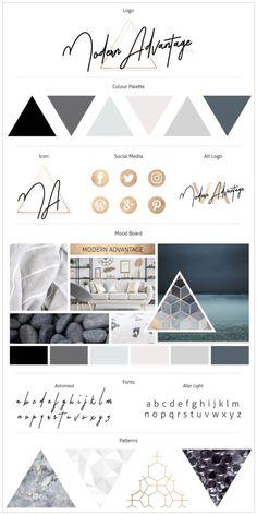 Brand Board - Moderne Kollektion - - - Trend Home Design Ideen 2019 Portfolio Design, Fashion Portfolio, Portfolio Logo, Portfolio Ideas, Portfolio Website, Site Web Design, Layout Design, Brand Design, Design Ideas