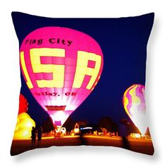 "Flag City USA Throw Pillow 20"" x 20"""