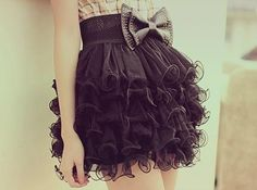 Black tule skirt