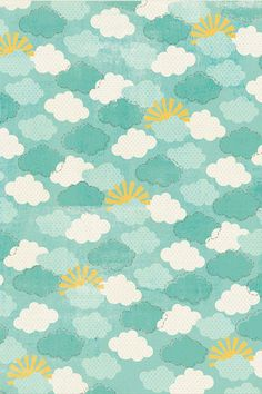 CANDY, tile, background, background, phone wallpaper Happy sunshine pattern design cloud clouds