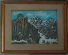 Sketch in the Dolomites Oil on hardboard 1969