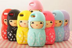 Nouvelle poupée japonaise Kawaii Kimono Belle conçu pour les filles de cas de couverture souple en silicone pour iPhone 5 5s Cas peau du dos téléphone shell dans Sacs et Etuis pour Téléphone de Téléphones et télécommunications sur AliExpress.com | Alibaba Group
