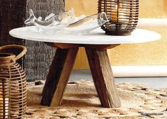 Roost Sandblasted Marble Tables | Modish Store - side table $730