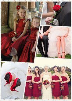 Unique Christmas Wedding Ideas,  Red Wedding Idea For Christmas www.loveitsomuch.com