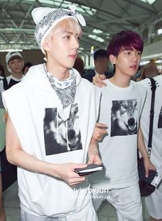 Exo - SeBaek - Baekhyun / Bacon & Sehun / Oh Sehun / Sehunnie / Maknae #fantaken #fashion #airport