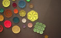 Alguns bowls em Crochet colorido
