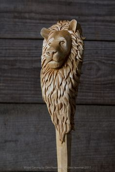 'Aslan' Lion Spoon « Giles Newman Art Wood Carving Love Spoons, Wood Spoon, Walking Sticks, Wands, Etsy Store, Wood Crafts, Hand Carved, Lion Sculpture, Woodworking