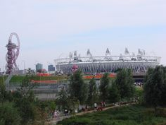 Saturday 11th August. Olympic Park. Stadium & Orbit Tower