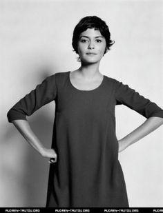Audrey Tautou-short hair