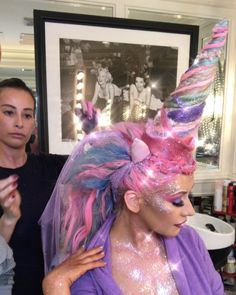 Christina Aguilera had an over-the-top sparkly unicorn costume and we just can't.