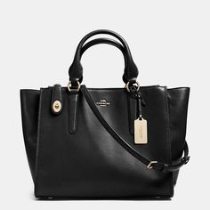 """Crosby Carryall in Leather, 17"""" (L) x 8 3/4"""" (H) x 7"""" (W)"""