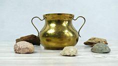 Brass plated bowl. Antique brass bowl. Double by VintageLittleGems