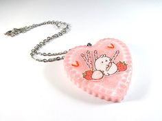 Molang Resin Necklace / Kawaii Resin Charm by Mintyholic on Etsy, $10.00