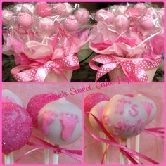 It's a Girl Baby Shower Cake Pops