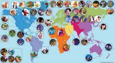 Disney Movie Settings Map