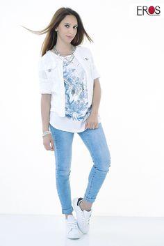 Eros Collection printemps/été 2015 #EROSCOLLECTION #PP15 #SS15 #style #fresh #spring #printemps #detail #couleur #top #look #imprimés #jeans #addict #summer
