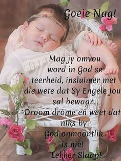 Goeie nag Good Night Messages, Good Night Quotes, Afrikaanse Quotes, Evening Greetings, Goeie Nag, Good Night Blessings, Good Night Sweet Dreams, Special Quotes, Sleep Tight