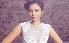 Download wallpapers Bollywood, Meghana Kaushik, makeup, beauty, brunette