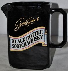 Gordon Graham's Black Bottle Scotch Whisky Water Jug by WADE PDM Made In England