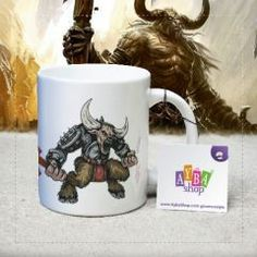 Minotaur Tasarımlı Porselen Kupa Baskı Mugs, Tableware, Dinnerware, Tumblers, Dishes, Mug, Cups