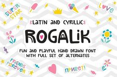 Rogalik Hand Lettered Font by PicByKate on @creativemarket