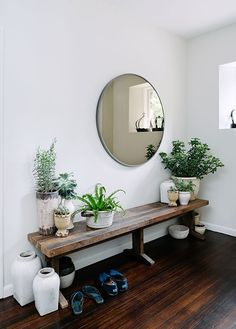 Entry way with potted plants