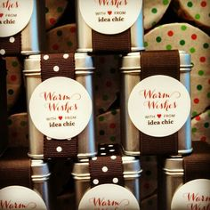 #coffee #favors for our Idea Chic open house!
