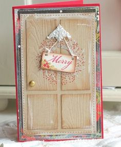 Merry Door Card by Betsy Veldman for Papertrey Ink (September 2010)
