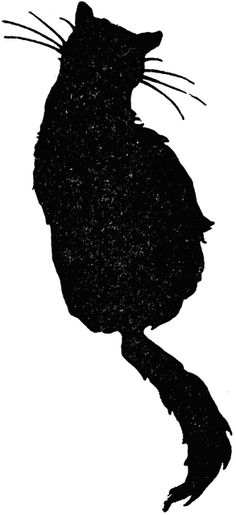 "Silhouette of a sitting cat from ""The Editorial Board of the University Society - Boys and Girls Bookshelf"" (New York, NY: The University Society, 1920)"