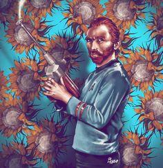 Bob Ross Basq-peeow Mr. Vincent van Gogh -Fab Ciraolo