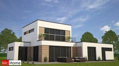 mchome m113 moderne kubistische bungalow woning met dakterras verdieping energieneutraal staalframe