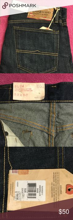 Men's Authentic Denim & Supply Jeans Brand new tags attached slim fit with low rise, and slightly tapered leg. Denim & Supply Ralph Lauren Jeans Slim