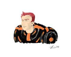 Futuristic Sci-Fi Guy drawn with Sketchbook Pro 6.