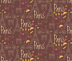 Paris fabric by bluelela on Spoonflower - custom fabric