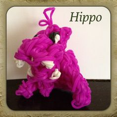 Hippo - YouTube tutorial by DIY Mommy Rainbow Loom Animals, Fun Loom, Diy Crafts, Charmed, Youtube, Manualidades, Make Your Own, Homemade, Craft