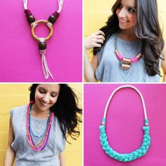 DIY Necklace  : DIY 4 Ways to Wrangle Rope Into a Statement Necklace