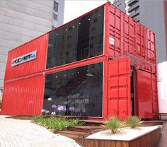 Page Moved. Please Wait. Container Store, Tiny Container House, Container Restaurant, Container Office, Building A Container Home, Shipping Container Buildings, Shipping Container Design, Casas Containers, Eco Architecture