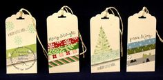 Lavender Thoughts: Stampin' Up! Christmas Tags