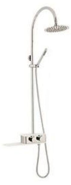 Hudson Reed AR322 thermostatic shower with shelf and dual head #HudsonReed
