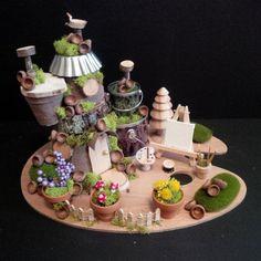 OOAK Fairy House: Artist Loft Fairy House by BirchTreeFairyHouses