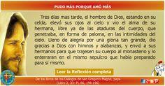 MISIONEROS DE LA PALABRA DIVINA: REFLEXIÓN - PUDO MÁS PORQUE AMÓ MÁS